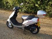 2009 Direct Bikes 50cc Sports Scooter Silver